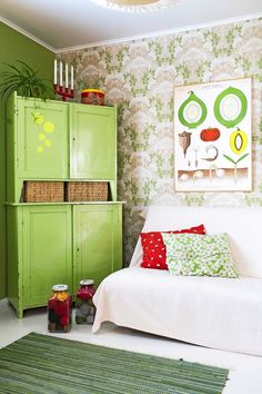 kuva Hand Painted Furniture, Vinyl Flooring, Bohemian Decor, Scandinavian Design, My Room, Interior Inspiration, Living Room Decor, Building A House, House Design