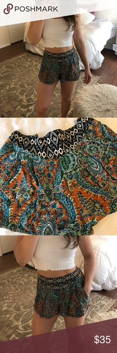 FESTIVAL SHORTS!! High waist, flowy paisley print Super cute Festival Shorts! Pair with a cute bralette or my white bell sleeve crop 😏 for the perfect Boho look! Worn once in perfect condition! Urban Outfitters Shorts