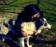 me and my border collie Neve ^^
