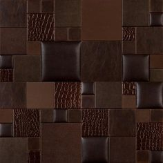 Mosaic Essentia TOFFEE BITE NappaTile Faux Leather Wall Tiles by Concertex