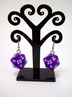 Dungeons and dragons earrings dice jewelry by Eternalelfcreations, $10.00