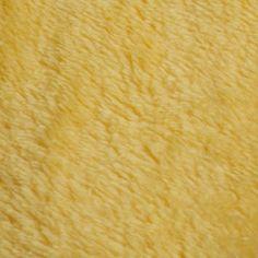 Microfaserfleece / weicher beidseitiger Kurzhaarzottel, Oeko-Tex Standard 100, gelb