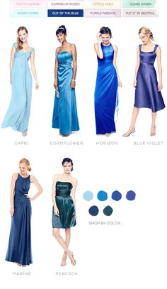 Color Palettes, Bridesmaid Dresses by Color | Palette - David's Bridal - out of the blue
