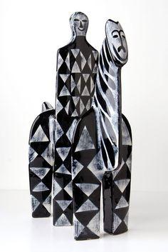 A.Bagni RAYMOR Harlequin HORSEMAN 60s Mid-Century Modern Bitossi Gambone