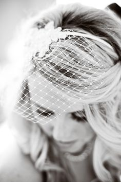 Love birdcage veils #wedding