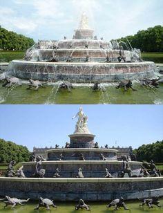 Chiemsee - Fonte Latona nos jardins do Novo Palácio Herrenchiemsee