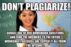 Unhelpful High School Teacher - dont plagiarize google one of her homework questions and f