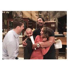 Daniel Goddard, Bryton James, Christel Khalil and Kristoff St John bts at CBS Studios on August 10, 2016