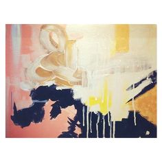 Althea, original abstract painting ($165) ❤ liked on Polyvore