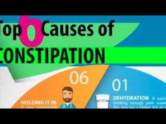 Constipation Causes and Remedies Infographic - SRC 60 second health tips  https://www.youtube.com/watch?v=fe0ojemYfZI #ConstipationPictures