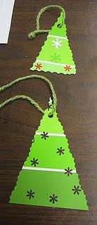 Paint chip ornaments - easy and supercute! Wonder if they would notice if I took a ton from the store