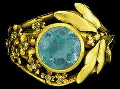 Art Nouveau dragonfly ring by Lucien Gaillard (1861-1933)