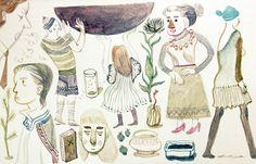 lovely watercolor by Sophia Foster-Dimino