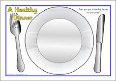 Healthy eating dinner cut and stick activity SparkleBox Lenka aaa Healthy Pasta Recipes, Healthy Meals For Kids, How To Stay Healthy, Healthy Snacks, Healthy Eating Plate, Healthy Wraps, Grilled Veggies, Yummy Snacks, Dinner Plates