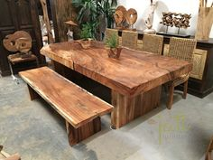 Solid Wood Table – Root Table - UNIQUE - Log Table - Dining Table - 100% Natural
