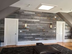 Reclaimed Wood Wall Paneling by JustReclaimedWood on Etsy Plank Walls, Wood Panel Walls, Wood Paneling, Reclaimed Wood Wall Panels, Weathered Wood, Barn Wood, Salvaged Wood, Interior Walls, Interior Design