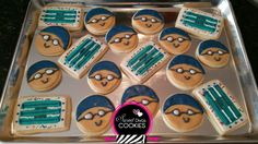 Swimming themed sugar cookies
