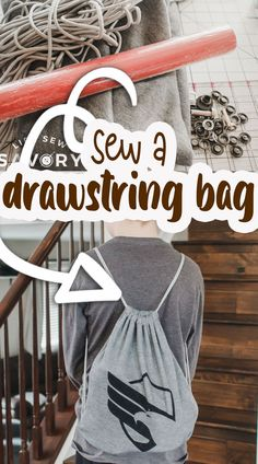 sew a drawstring bag in minutes Drawstring Bag Tutorials, Drawstring Bags, Sewing Tutorials, Sewing Ideas, Boys Sewing Patterns, Sewing Essentials, How To Make Purses, Simple Bags, Kids Bags