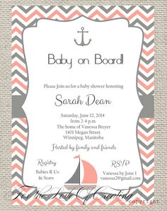 PRINTABLE Navy/Blue PinkCoral White Baby Chevron by LoveofCreating, $14.89