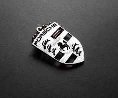 Porsche logo keychain key tag by akta01WorkShop on Etsy
