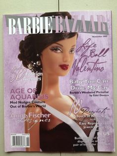 Barbie Bazaar November 2005 Magazine Doll Book Life Of The Ball Valentino Issue Magazine, Magazine Covers, Play Barbie, Real Doll, Barbie World, Barbie Friends, Collector Dolls, Book Of Life, Barbie Clothes