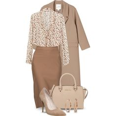 Neutral Work Wear by boxthoughts on Polyvore featuring MANGO, Monki, BellaBerry…