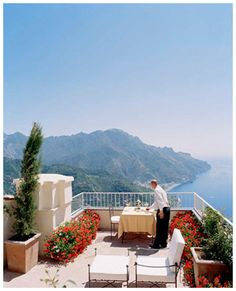 view from Ravello, Amalfi Coast, Italy