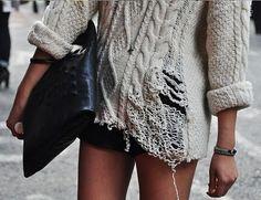 frayed knit