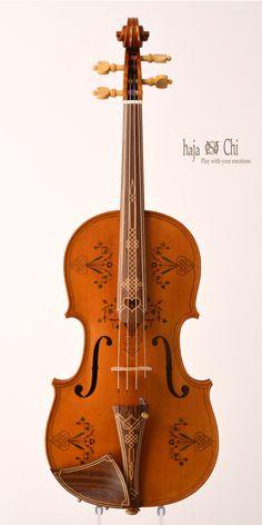 Old Alemannic ornamented Viola by violin-makers haja&Chi. 2013.