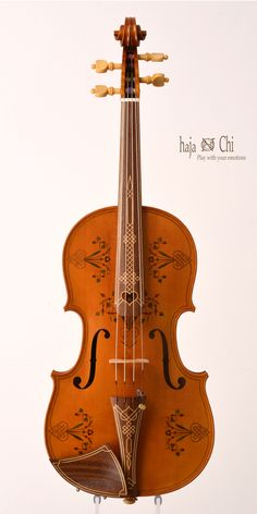 Old Alemannic ornamented Viola by violin-makers haja&Chi. 2013.