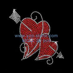 For Sale Cupid Arrow And Heart Hot Fix Motif Rhinestone Rhinestone Transfers, Rhinestone Appliques, Heart With Arrow, Love Heart, Family Fun Night, Cupid, Hearts, Sequins, Bling