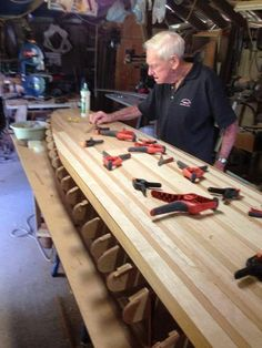 Father and son build. Wood Surfboard Supply hollow wood kit Malco SUP build.