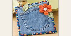 A Great Gift and Easy Enough for Beginners! Are you looking for something unusual for your kitchen or for a gift? This fun hot pad is a wonderful choice, and gets big points for creatively turning old jeans into something pretty and new. The hot pad is a breeze to stitch together, using the back …