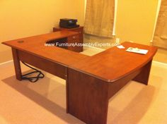 staples u shaped desk assembled in Baltimore MD by Furniture assembly experts company