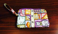 Kitty cell phone wristlet