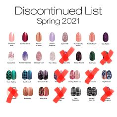 This list is current as of 2/25/21 7pm CST, but sets are selling out fast. If you love any of these nail shades, grab them before they are gone forever. #colorstreet #nails #nailart #retirement #spring Color Street Nails, All The Colors, Free Gifts, Retirement, Nailart, Shades, Invitations, Make It Yourself, Boutique