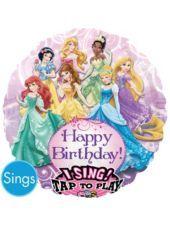 Foil Disney Princess Singing Balloon - Party City