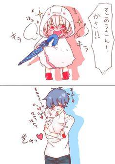 Soraru and Mafumafu (utaite) awww Kawaii Chibi, Cute Chibi, Kawaii Cute, Anime Chibi, Kawaii Anime, Cute Anime Boy, Anime Guys, Vocaloid, Anime Love Story
