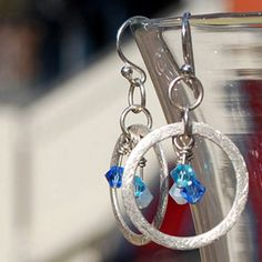 Sparkle Ring and Crystal Earrings by Kyra Traxler