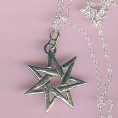 Elven star or faery star or heptagram by chrome dreaming otherkin sterling fairy star pendant and chain elven star by shymalillamas 4000 aloadofball Choice Image