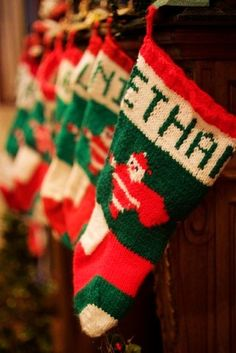 2015 Christmas knitted stocking,Green and Red Crochet Stocking for 2015 Christmas