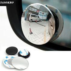Car Wide Angle Dead Zone Mirror Blind Spot Rear View Mirror POWSTRO 2pcs Car Blind Spot Mirror