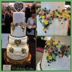 Gold award winning wedding cake - capi de monte china flower inspired - by carinascupcakes @ CakesDecor.com - cake decorating website