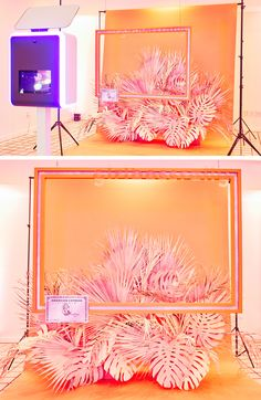 Photobooth styling/arrangement for the GIRLBOSS Rally in Los Angeles, CA Stage Design, Event Design, Photo Zone, Kartell, Exhibition Display, Arte Floral, Booth Design, Event Styling, Visual Merchandising