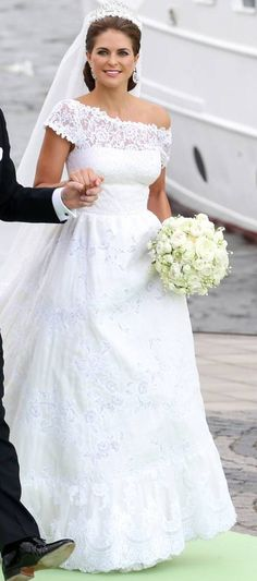 princess madeleine wedding dress> Princess Madeleine, romantic wedding!  She is quite a lady of compassion and beauty