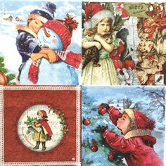Set of 4four pieces  Decoupage napkins  Theme: door Dalilasdecoupage