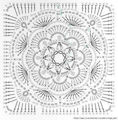 Transcendent Crochet a Solid Granny Square Ideas. Inconceivable Crochet a Solid Granny Square Ideas. Crochet Coaster Pattern, Crochet Mandala Pattern, Granny Square Crochet Pattern, Crochet Diagram, Crochet Stitches Patterns, Crochet Chart, Crochet Squares, Crochet Granny, Tutorial Crochet