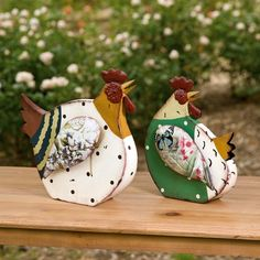 Outdoor Large Metal Rooster   Rosalea Roosters Figurines - Set Of 2