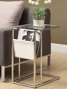 Monarch Specialties Accent Table with Magazine Holder