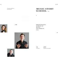 Music Story on Behance